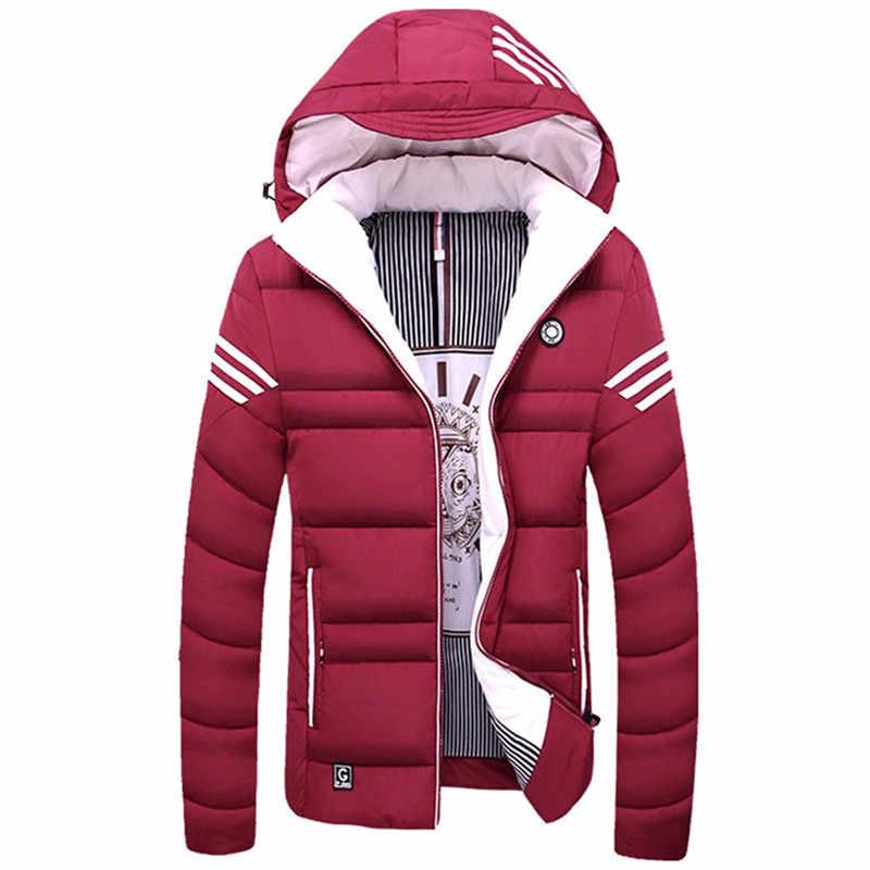 2018 新冬のジャケットの男性暖かい綿ダウンパーカーコートメンズジャケットとコート厚み生き抜くブランド服アジアサイズ