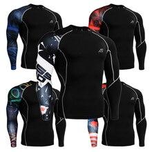 Men's 3D Prints Compression Tight T Shirts Elastic Wear  Exercise Tops