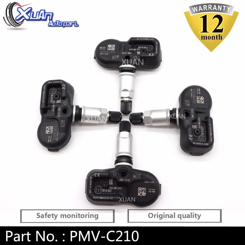 XUAN 42607-02031 TPMS Tire Pressure Monitor Sensor For Toyota Camry Corolla RAV4 IV Sequoia FJ Land Cruiser 200 Prado 433Mhz(China)