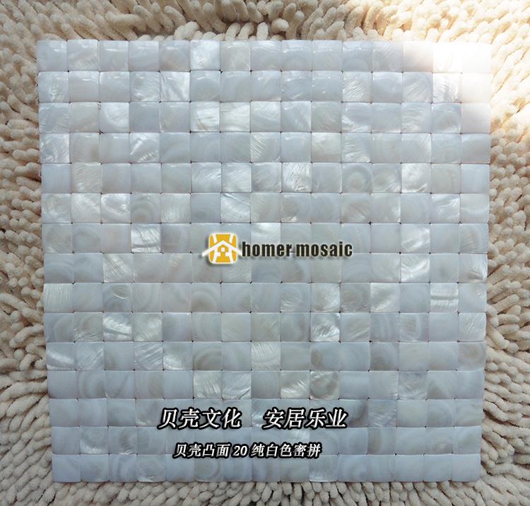 d convexa blanco puro shell hmsm fregona ncar azulejos de mosaico backsplash de la cocina azulejos
