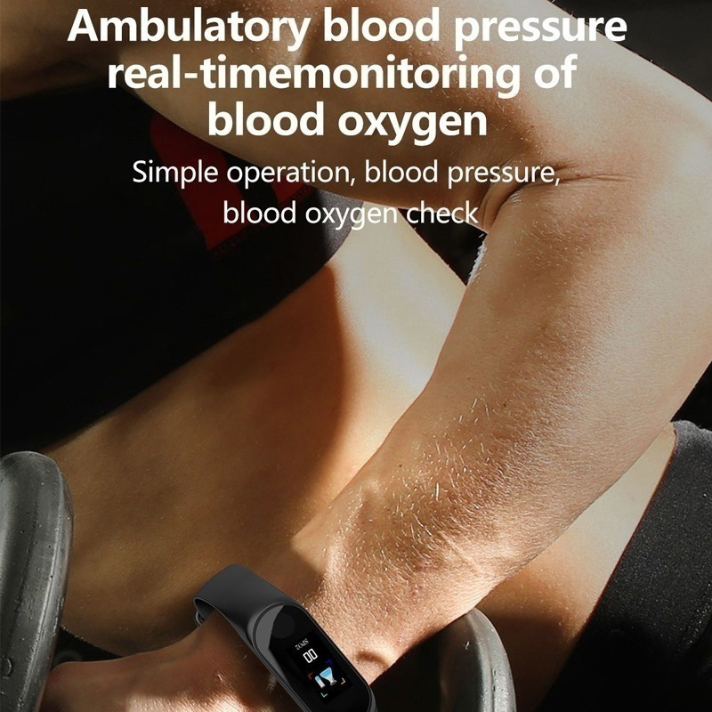 Image 2 - VTIN M3 Smart Band Fitness Bracelet Blood Pressure Blood Oxygen Monitor Smart Watch Waterproof Colorful Screen Sport Watch-in Smart Wristbands from Consumer Electronics