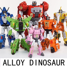Oversize 6 in 1 Dinosaur Transformation Toy G1 Black Mamba  Movie 5 KO Cool Deformation Action Figure Robot H6002