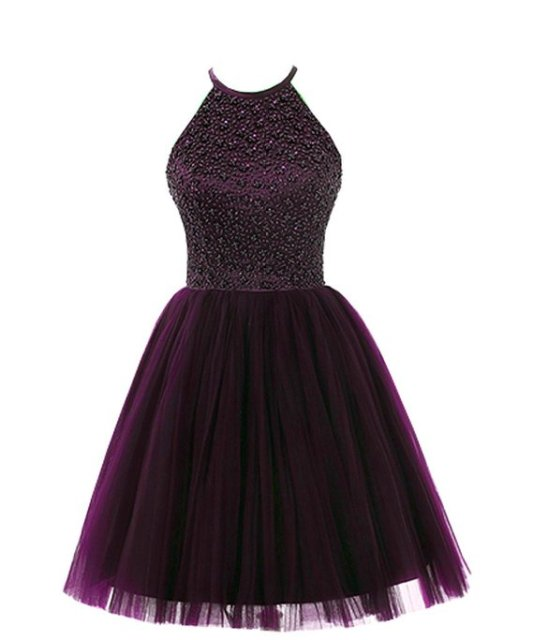Grape Short Dresses