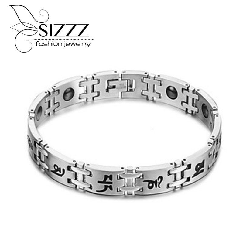 Man Hematite Stone Bracelet...