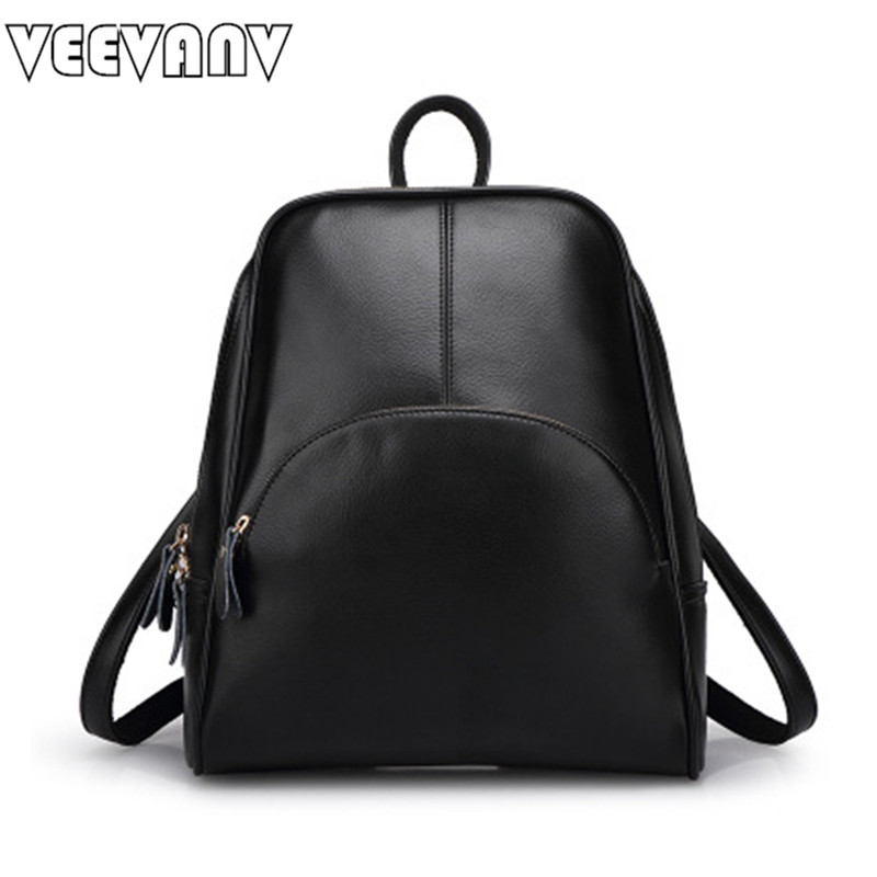 2017 VEEVANV Women Backpacks for Girls Leather School Bag Casual Leather Shoulder Bags Ladies Backpacks Female