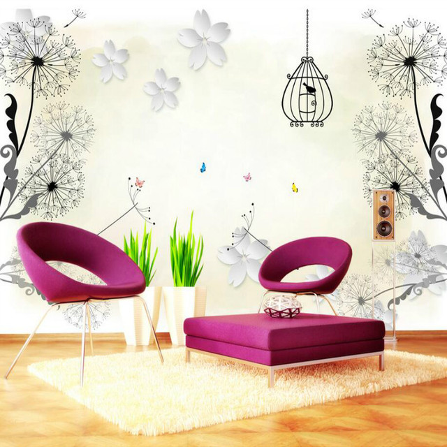 US $17.75 29% OFF|Custom 3d Wall Paper Wallpaper for Walls 3d 3D stereo  Murals Background floral butterfly Wallpaper Bedroom Home Improvement-in ...