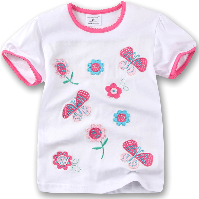 Jumpingbaby 2018 Girls T shrit Kids Clothes Summer Tops Tshirt Baby Girl Tee shirt Camiseta Camisetas Roupas Infanties T-Shirts ...