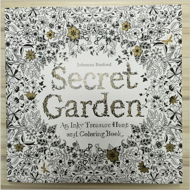 96 Pages My Secret Garden Coloring Books For Adult Child Relieve Stress Kill Time DIY Graffiti