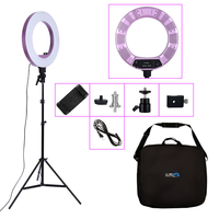 18inch LED Photography Light 480PCS LED Ring Light 50W Bi color 3200K 5600K Photo Studio Makeup Lamp For Live Broadcast Video