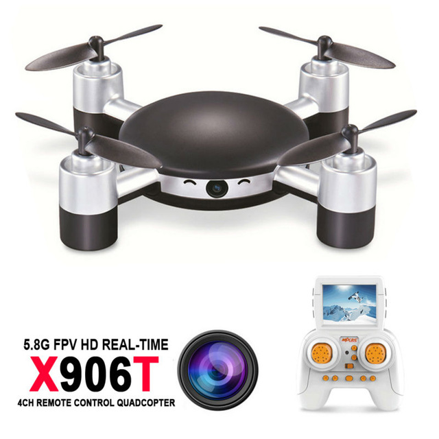 Quadcopter Mini Drone MJX X906T 5.8G FPV 720P CAM 2.4G 4CH 6 Axis Gyro Quadcopter 360 Degree Flip RC Helicopter Quadrocopter mjx x906t mini rc drone 6 axis gyro quadrocopter rc fpv drone helicopter hd camera wifi mando remote control copter toy