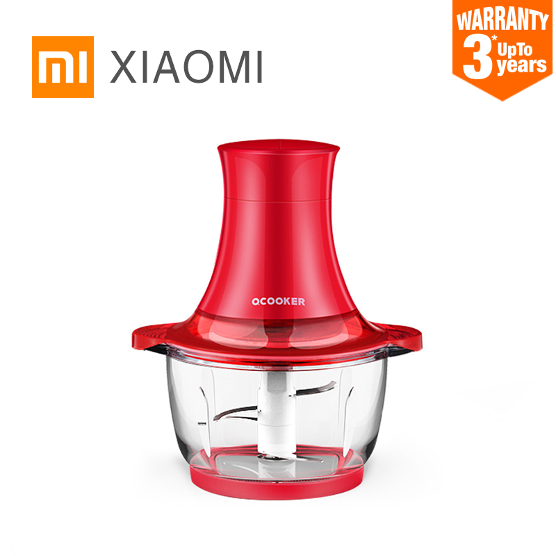 XIAOMI MIJIA QCOOKER electric Meat Grinder for home Household kitchen Small safety meat slicer mincer cutter