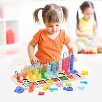 Wooden Number Kids Educational Calculating Toy Gift Maths Counting Abacus Bead