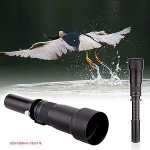 Image 4 - Lightdow 650 1300mm F8.0 F16 Super téléobjectif Zoom manuel + bague adaptateur T2 pour canon Nikon Sony Pentax appareils photo reflex numériques