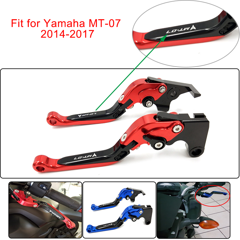 Fits MT-07 2014-2018 CNC High Quality Folding Extendable Brake & Clutch Levers Auto Parts and Vehicles