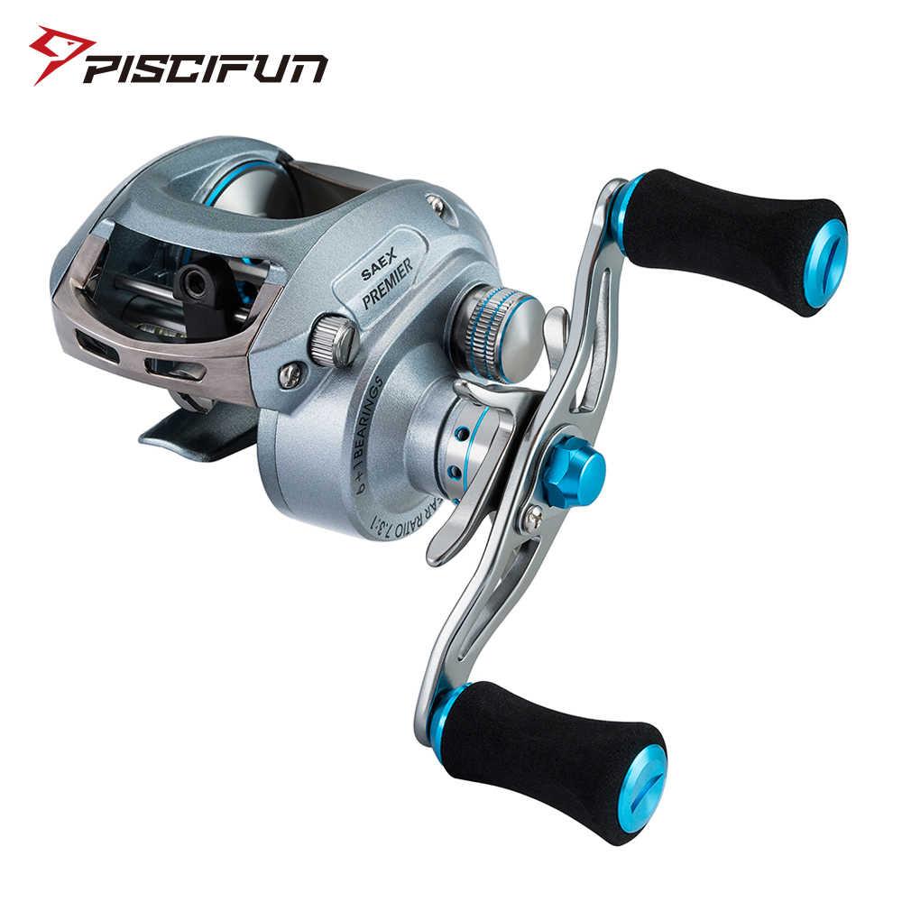Moulinet de pêche Piscifun Saex Premier 7BB 7.3: 1 rapport de vitesse 179g aluminium droite ou gauche haute vitesse Baitcasting moulinet de pêche