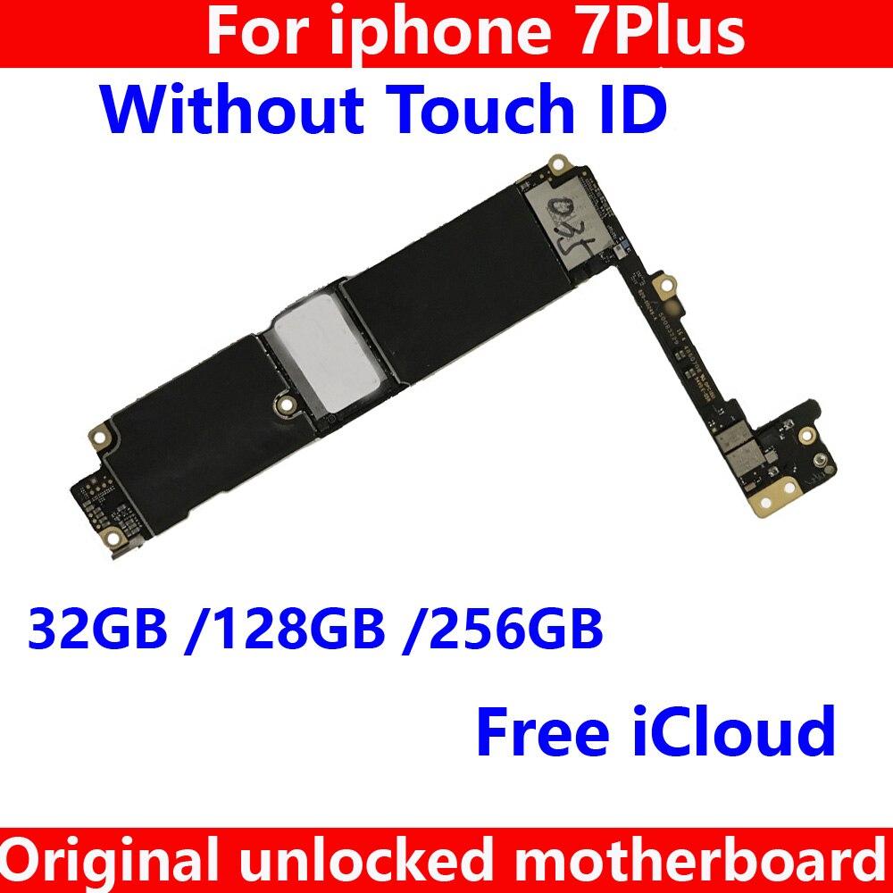 100% протестированная 32 Гб 128 ГБ 256 ГБ материнская плата без touch ID для iphone 7 plus 7Plus 7P оригинальная материнская плата чистая iCloud IOS система Антенны для мобильных телефонов      АлиЭкспресс