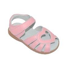 Г. Новые сандалии для девочек из натуральной кожи белые летние ходунки с вырезами в виде сердца, противоскользящая подошва для детей ясельного возраста 12,3-18,3 SandQ