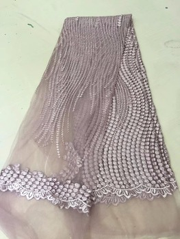Emboridery French mesh lace fabric African Lace Fabric Flower Tulle French lace For African Women Dress