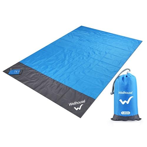 Походный коврик, водонепроницаемое пляжное одеяло, портативный коврик для пикника, коврик для пикника на открытом воздухе, коврик для пикника, одеяло, 1,4*2 м - Цвет: blue