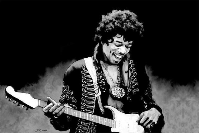 oft Benutzerdefinierte Leinwand Malerei Jimi Hendrix Poster Jimi  MI73