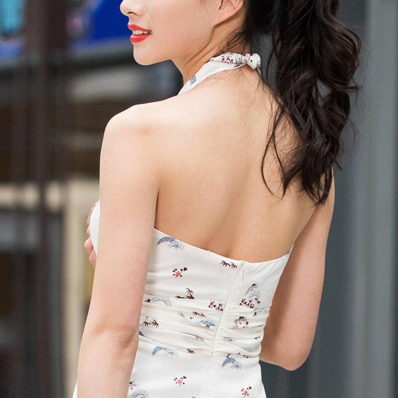 Maxi Lace Nu Dl1079 D'été V Femmes Longue Boho Neck Robes Sexy Floral Dos Imprimé Robe Plage Fille nC8q44