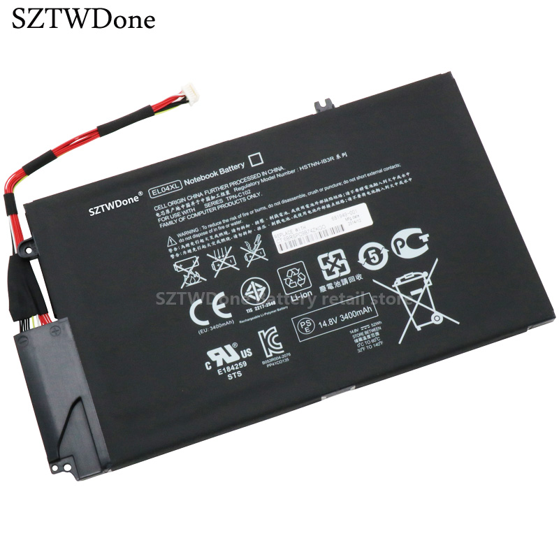 SZTWDone Original Laptop battery EL04XL for HP TPN-C102 Envy 4-1150er 4-1151er 4-1007TX 4-1008tx 4-1004TX 4-1005TX HSTNN-IB3R