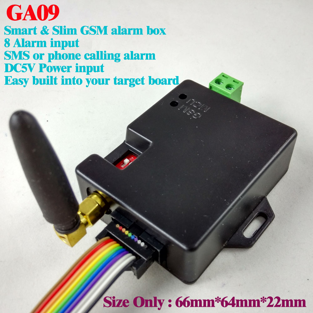 2017 New Published Free Shipping 8 Channel  GA09 Super Small GSM Alarm Systems SMS Alarms Security System