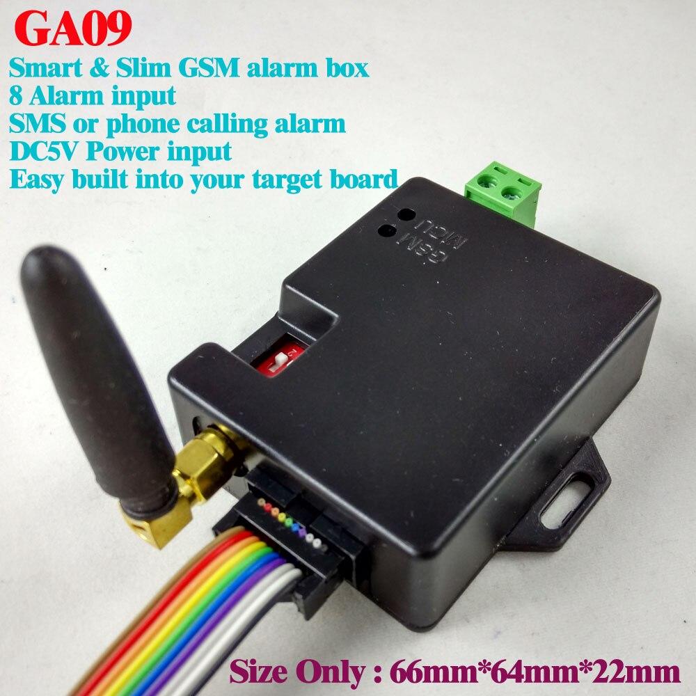 2017 nouveau publié livraison gratuite 8 canaux GA09 Super petits systèmes d'alarme GSM SMS alarmes système de sécurité