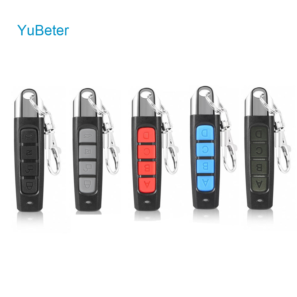 YuBeter 433MHZ 4 Buttons Clone Remote Control Wireless Transmitter Garage Gate Door Electric Copy Controller Anti-theft Lock Key(China)