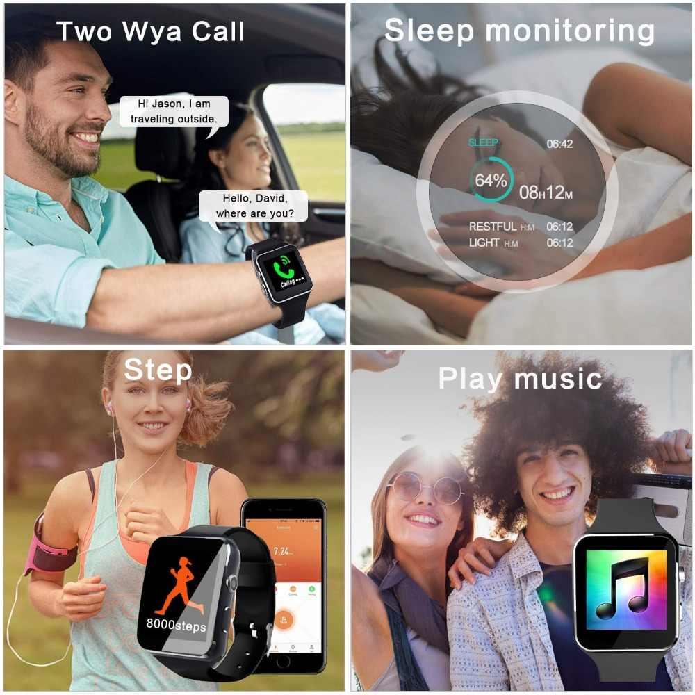 Smart Watch Clock Sim Push Message Bluetooth for Android IOS reloj Men Women Sport Smartwatch for iPhone Xiaomi Huawei Samsung