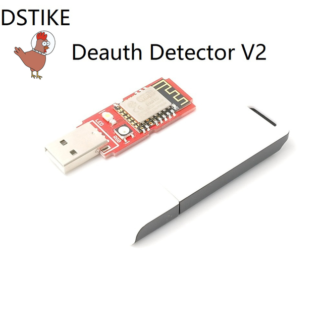 DSTIKE WiFi Deauth detector V2(Pre-flashed) with Case ESP8266 ESP12E  USB LED NodeMCU WiFi Deauther ESP8266 starter Kit