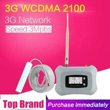 3G WCDMA 2100Mhz Tế Bào Tăng Cường Tín Hiệu Màn Hình LCD 3G UMTS Di Động Repeater 70dB Tăng 3G UMTS 2100 Bộ Khuếch Đại Tín Hiệu Ăng Ten Bộ