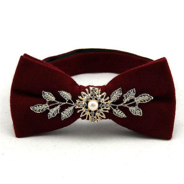 Mantieqingway Nova Chegada Gentlemen Bow Ties Marca de Moda Preto Vermelho Bow Tie homens Unisex Tuxedo Vestido Bowtie Laços Do Partido para homens