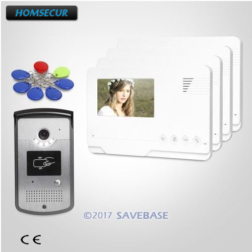 HOMSECUR 1V4 4.3inch Video Door Entry Call System with IR Night Vision for Home Security