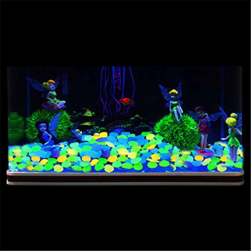 Colorful Luminous Glowing Artificial Stone Aquarium Fish Tank Bonsai Garden Home