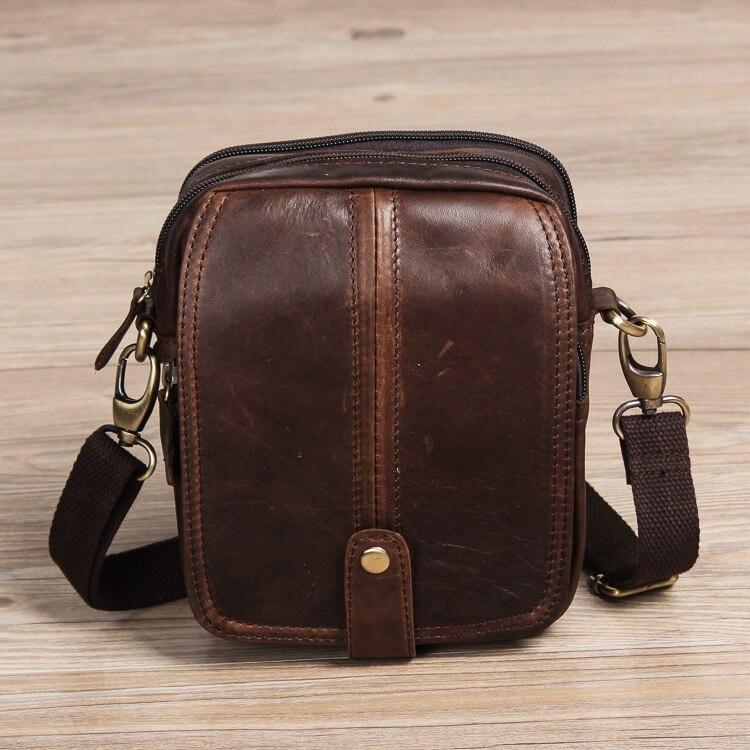 2016 Neue Top Qualität Echte Echtem Leder Männer Vintage Kleine Crossbody Gürteltasche Hüfttasche Drop Tasche 100% Garantie