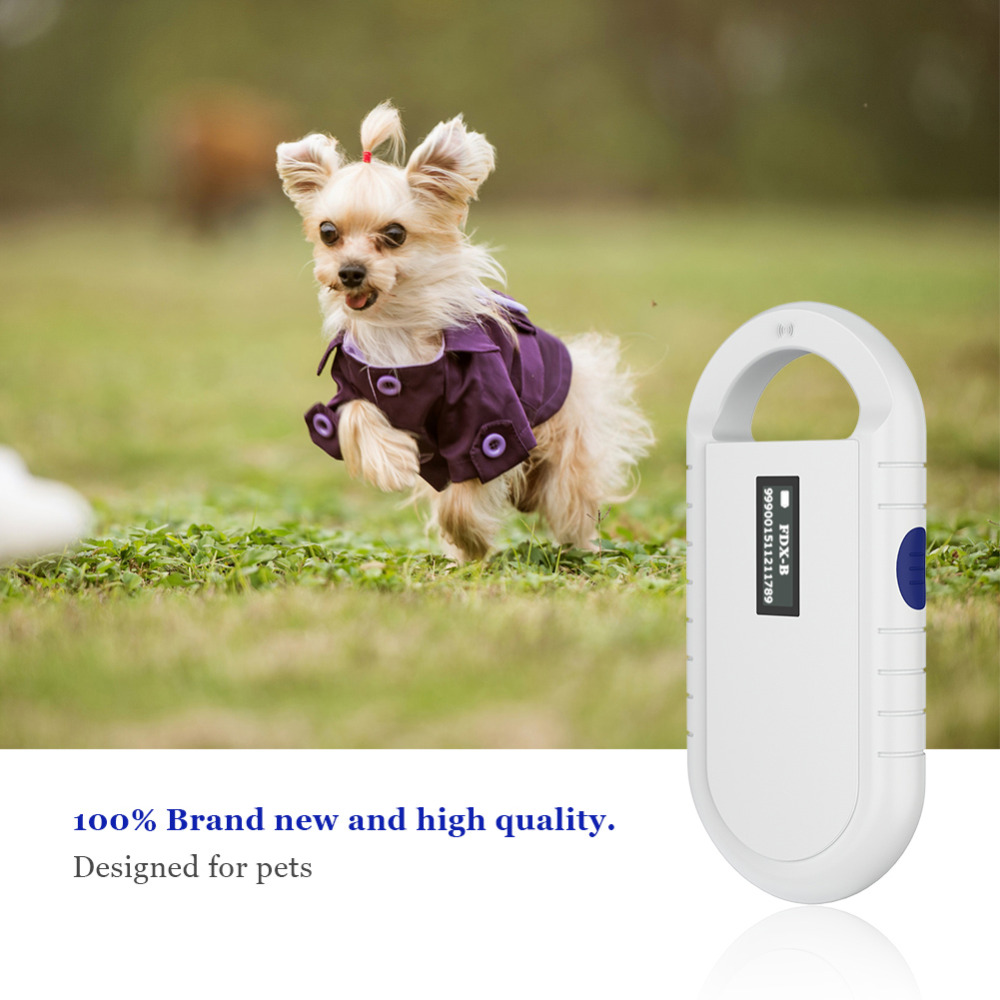 HTB16hRBMYvpK1RjSZFqq6AXUVXak ISO11785/84 FDX-B Pet microchip Scanner Animal RFID Tag Dog Reader Low Frequency Handheld RFID Reader with Animal Chip New