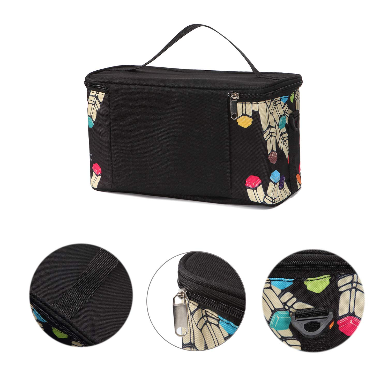 Image 2 - TOUCHFIVE New Marker Pen Case Holder Large Capacity School Bag 120 Markers Organizer Multifunctional Zipper Storage Carrying BagPencil Bags   -