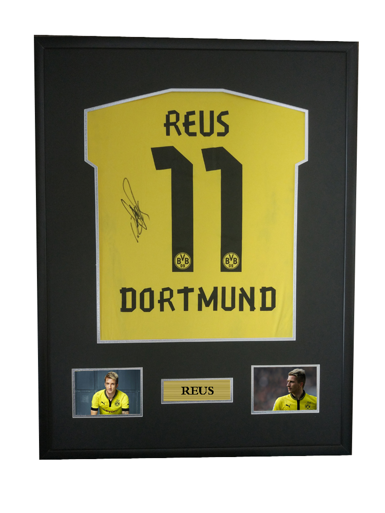 pretty nice 56c9d 85f2b US $750.0 |Marco Reus signed autographed soccer shirt jersey come with Sa  coa framed Dortmund-in Frame from Home & Garden on Aliexpress.com | Alibaba  ...