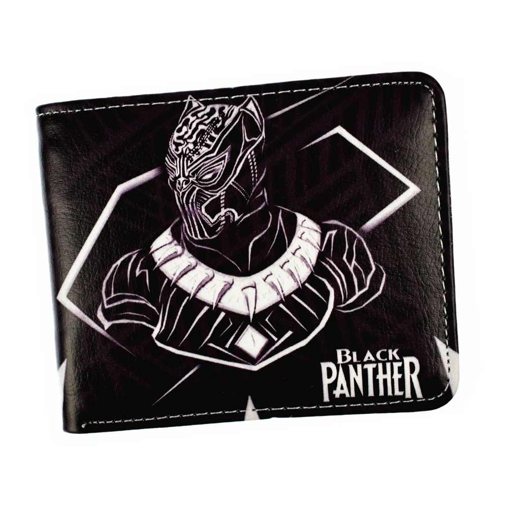 FVIP Marvel Hero Black Panther Short Men's Wallet With Card Holder Coin Purse