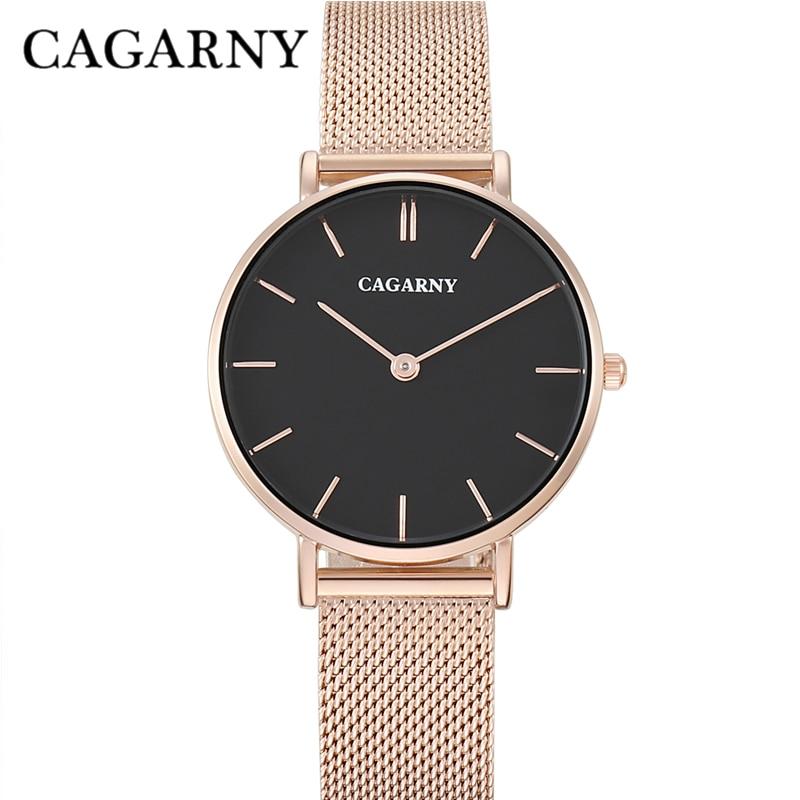 Horloge Dames Rose Goud Luxe Merk Cagarny Women's Wastches Mode - Dameshorloges - Foto 3