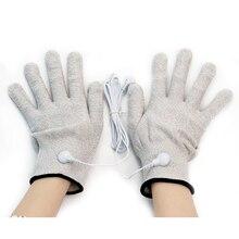 Волоконный электротерапевтический массажер электрошоковые перчатки электрические массажные перчатки с проводом проводящие перчатки Электротерапия Машина