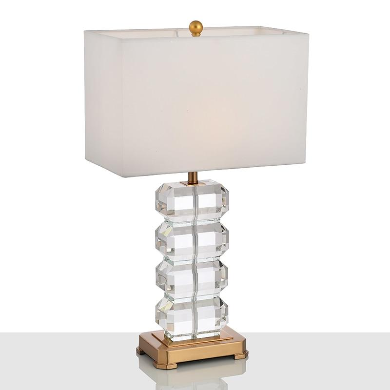 Modern Luxury Crystal Lampara Designer Hotel Villa White Lamp Shades
