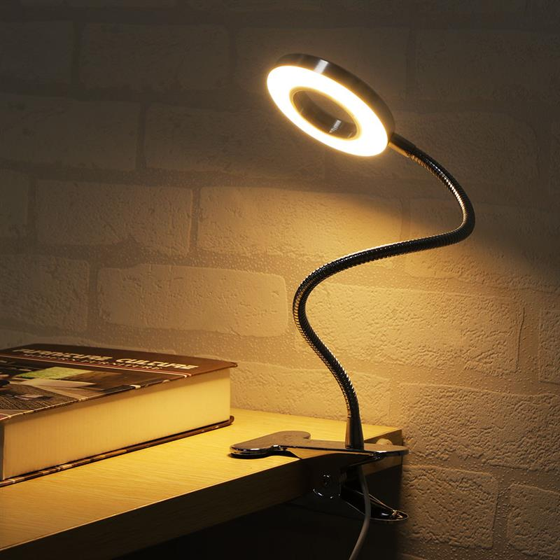 Table Lamp With Clip Rechargeable LED Desk Lamp USB Flexible For Reading 2 Modes Night Light Bureau LED Study Lamps