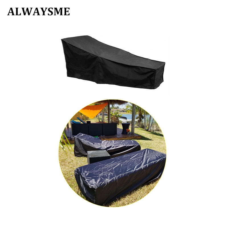 ALWAYSME Water Resistant Waterproof Patio Outdoor Chaise Sun Lounge Chair Covers Durable Classic Accessories Day Chaise Cover