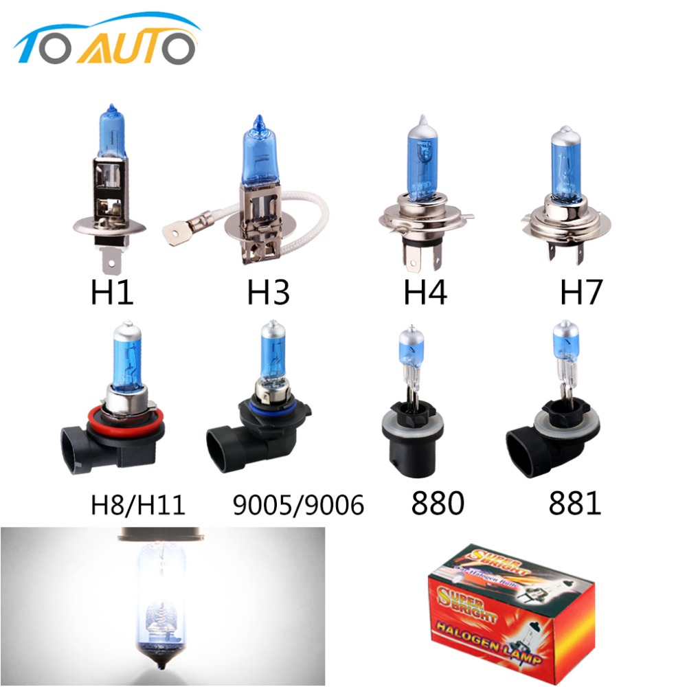 Car Light H1 H3 H4 H7 H8 H9 H11 9005 9006 880 881 Auto
