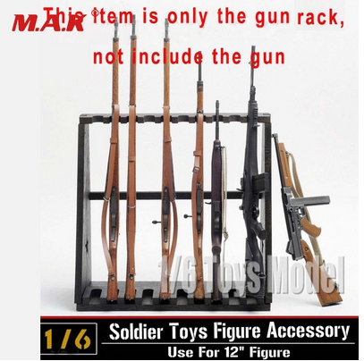 1 6 DRAGON Model Wood Storage Gun Rack Modle Display Stand for 10 Gun for 12 quot Figures Hot Figures Accessory in Action amp Toy Figures from Toys amp Hobbies