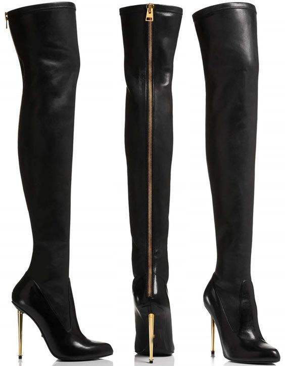 Online Buy Wholesale high heels back zip thigh high boot from ...