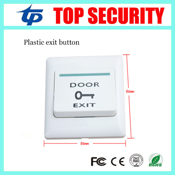 Free shipping door access control plastic push exit button push open door release exit switch for door control system free shipping plastic exit button exit switch for door access control system door push exit door release switch with back box