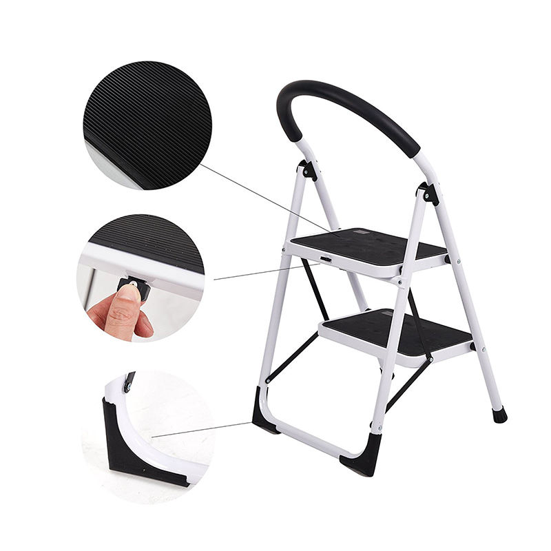 2 Step Household Folding Step Stool Super Strong Piper